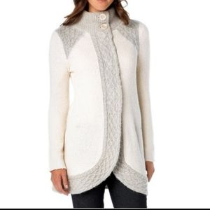 Prana Angelica duster sweater cardigan snap front